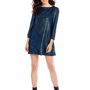 NWT Free People Blue Metallic Dress